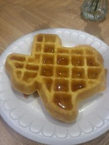 Seriously?  A fucking Texas shaped waffle